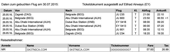 Dubai ticket